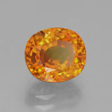 3.06 ct Oval Facet Yellow Golden Sapphire Gem 8.42 mm x 7.4 mm (Photo B)