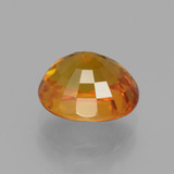 3.06 ct Oval Facet Yellow Golden Sapphire Gem 8.42 mm x 7.4 mm (Photo C)