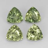 thumb image of 0.5ct Trillion Facet Green Sapphire (ID: 373775)
