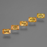 thumb image of 1.8ct Octagon / Scissor Cut Yellow Orange Sapphire (ID: 375021)
