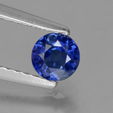 thumb image of 0.4ct Round Facet Blue Sapphire (ID: 382140)