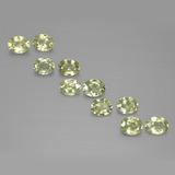 thumb image of 1.9ct Oval Facet Yellowish Green Sapphire (ID: 385506)