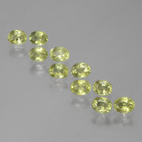 thumb image of 2.7ct Oval Facet Yellowish Green Sapphire (ID: 385618)