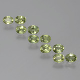 thumb image of 0.2ct Oval Facet Yellowish Green Sapphire (ID: 386316)