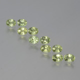 thumb image of 0.2ct Oval Facet Yellowish Green Sapphire (ID: 386467)