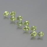 thumb image of 2.4ct Pear Facet Yellowish Green Sapphire (ID: 386472)