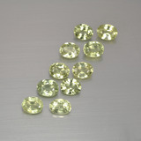 thumb image of 2.4ct Oval Facet Yellowish Green Sapphire (ID: 386874)