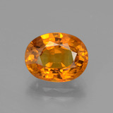 thumb image of 3.7ct Oval Facet Yellow Orange Sapphire (ID: 393895)