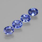 0.71 ct Oval Facet Blue Sapphire Gem 5.90 mm x 4.8 mm (Photo B)
