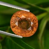 thumb image of 7.5ct Oval Facet Orange Sapphire (ID: 398769)