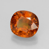 4.84 ct Cushion-Cut Orange Sapphire Gem 10.13 mm x 9.4 mm (Photo B)