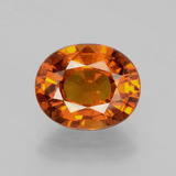 thumb image of 4.1ct Oval Facet Orange Sapphire (ID: 398773)