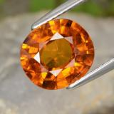 thumb image of 4ct Oval Facet Orange Sapphire (ID: 398777)