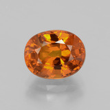 thumb image of 3.8ct Oval Facet Orange Sapphire (ID: 398778)