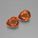 thumb image of 1.2ct Pear Facet Orange Sapphire (ID: 399874)