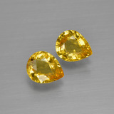 thumb image of 1.3ct Pear Facet Yellow Golden Sapphire (ID: 399895)