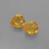thumb image of 0.7ct Pear Facet Yellow Golden Sapphire (ID: 399979)