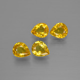 thumb image of 2.7ct Pear Facet Yellow Golden Sapphire (ID: 400013)