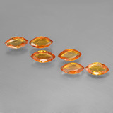 thumb image of 2.5ct Marquise Facet Yellow Orange Sapphire (ID: 400599)