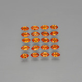 thumb image of 3.3ct Marquise Facet Orange Sapphire (ID: 401398)