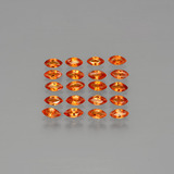 thumb image of 0.2ct Marquise Facet Orange Sapphire (ID: 401400)