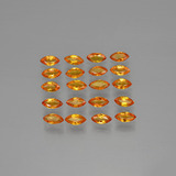 thumb image of 3.6ct Marquise Facet Yellow Orange Sapphire (ID: 401495)
