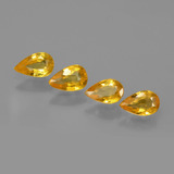 thumb image of 1.1ct Pear Facet Yellow Golden Sapphire (ID: 402453)