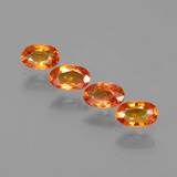 thumb image of 1.4ct Oval Facet Orange Sapphire (ID: 402456)