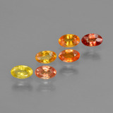 thumb image of 2.1ct Oval Facet Multicolor Sapphire (ID: 402608)