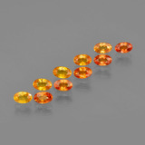 thumb image of 4.1ct Oval Facet Yellow Orange Sapphire (ID: 402615)