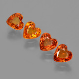 thumb image of 2.3ct Heart Facet Yellow Orange Sapphire (ID: 406324)