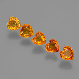 thumb image of 2.1ct Heart Facet Yellow Golden Sapphire (ID: 406332)