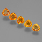 thumb image of 2.1ct Heart Facet Yellow Golden Sapphire (ID: 406339)