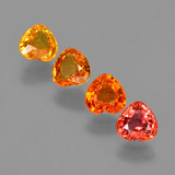 thumb image of 2.1ct Heart Facet Yellow Orange Sapphire (ID: 406340)