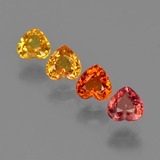 thumb image of 2.1ct Heart Facet Yellow Orange Sapphire (ID: 406345)