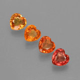 thumb image of 1.7ct Heart Facet Yellow Orange Sapphire (ID: 406350)