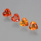 thumb image of 1.8ct Heart Facet Yellow Orange Sapphire (ID: 406357)