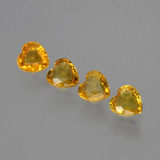 thumb image of 1.1ct Heart Facet Yellow Golden Sapphire (ID: 406390)