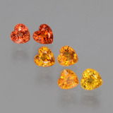 thumb image of 2.1ct Heart Facet Yellow Orange Sapphire (ID: 406483)