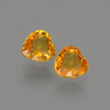 thumb image of 0.9ct Heart Facet Yellow Golden Sapphire (ID: 406527)