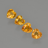 thumb image of 1.3ct Heart Facet Yellow Golden Sapphire (ID: 406535)