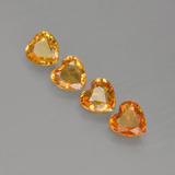 thumb image of 1.4ct Heart Facet Yellow Golden Sapphire (ID: 406540)