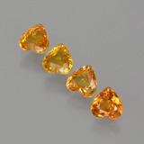 thumb image of 2ct Heart Facet Yellow Golden Sapphire (ID: 406544)
