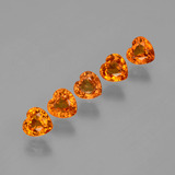 thumb image of 1.9ct Heart Facet Orange Sapphire (ID: 406547)