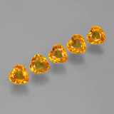 thumb image of 1.8ct Heart Facet Yellow Golden Sapphire (ID: 406548)
