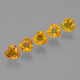 thumb image of 2.2ct Heart Facet Yellow Golden Sapphire (ID: 406549)