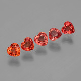 thumb image of 1.8ct Heart Facet Red Orange Sapphire (ID: 406550)