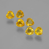 thumb image of 1.6ct Heart Facet Yellow Golden Sapphire (ID: 406553)
