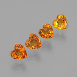 thumb image of 2.1ct Heart Facet Yellow Golden Sapphire (ID: 406558)
