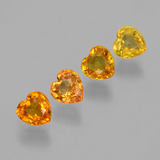 thumb image of 2.2ct Heart Facet Yellow Golden Sapphire (ID: 406559)